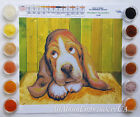 Bead embroidery kit Basset Hound Beaded stitching Puppy Dog lover DIY gift idea