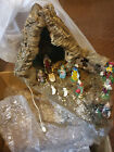 VINTAGE ITALIAN CHRISTMAS LIGHTED NATIVITY SET