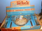 VTG ANCHOR HOCKING EARLY AMERICAN PRESCUT SALAD SET OIL VINEGAR SALT PEPPER MIB