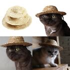 Pet Cat Puppy Dog Straw Hat Adjustable Buckle Costume Ornament For Small Animal