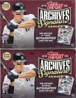 2018 Topps Archives Signature Series Active Baseball Factory Sealed Hobby Box x2