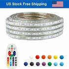 LED Strip Rope Light Waterproof Multi Color Changing Lights Flexible With Remote