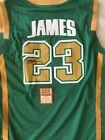 Lebron James signed high school jersey with COA