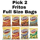 Ruffles Potato Chips 2 Pack Full Size Bags Choose any Flavor