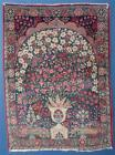 SMALL ANTIQUE  KERMAN or KIRMAN ORIENTAL PRAYER RUG, UNUSUAL, 32