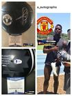 PAUL POGBA SIGNED MANCHESTER UNITED BALL 2018 WORLD CUP FRANCE SIGNED BAS [b