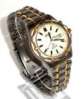SEIKO KINETIC $599 MENS TWO-TONE TITANIUM WATCH,LUMIBRITE DIAL, DAY/DATE  SKJ076