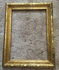 Vintage Ornate Wood Gold Gilded Molded Picture Frame Embossed 8 X 11