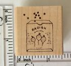 Susan Branch Radish Seed Packet Rubber Stamp Garden Radishes Planting Seeds Wood