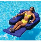 Ultimate Fabric Covered Comfortable Pool Float With Cup Holders For Adults