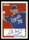 2006 Bowman Heritage Signs of Greatness #AG Alex Gordon Rookie Auto (ref 2419)
