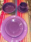 Fiesta Fiestaware Heather (plum) 5 Piece Place Setting EXC