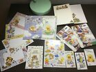 Vintage Suzy Zoo card note pad sticker scrapbook lot Exc