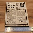 K219 Tintin Tenten Turkish Comics Special Issue Published on Death of Herge RARE