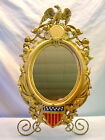 Rare Civil War Cast Iron Wall Mirror Eagle With Federal Shield/Patented 1862