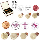 Wax Seal Stamper Wooden Handle Brass Head Special Postmark Stamp For Invitation