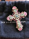 Jay Strongwater  Swarovski Crystal Cross Brooch
