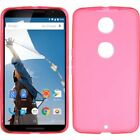 For Motorola Google Nexus 6 Hot Pink Rubber Cover Case