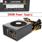 2000W 8GPU Power Supply Coin Mining Miner For Eth Rig Ethereum ATX S9 L3 D3 220V