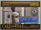 Bobby Doerr 6 25 2004 Donruss Timelines Call to the Hall Autograph Gold #4