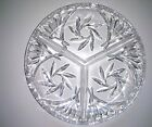 Clear glass Serving Dish , 3 Part Divided