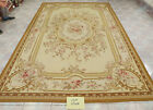6.56'X9.84' Antique French Aubusson Wool Flat Weave Rug Vibtage Color Light Gold