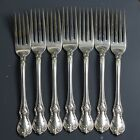 (Lot) of 7 Towle Old Master Sterling Silver Floral Dinner Fork NO MONOGRAM