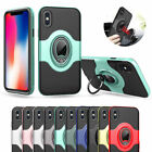 For iPhone 6 6S 7 8 Plus Ring Shockproof Protective Rugged TPU Back Case C