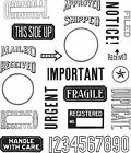 """Tim Holtz Cling Stamps 7'X8.5""""-Mail Art"""
