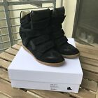 Isabel Marant Etoile Bekett Wedge Sneakers Black US 8 FR 39