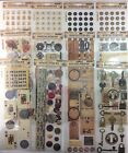 Lot of 12 Nostlgique Stickers Rebecca Sower Keys Tags Architect Typewriter ABC