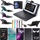 """US For RCA Voyager 7"""" 8"""" 10.1"""" Tablets Micro USB Keyboard Leather Case Cover FZ"""