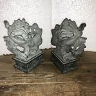 Chinese FengShui Stone Evil Door Guardian Foo Dog Lion beast Pair Moving Parts