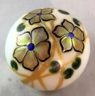 Rare Steven Lundberg Signed Super Magnum Flowers Paperweight Apr 4.5