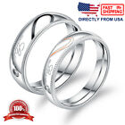 Couples Matching Promise Ring His or Her Love Heart Comfort Fit Wedding Band
