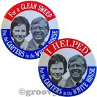 Jimmy Rosalynn Carter Helped Clean Sweep Jugate Campaign Pin Pinback Button Lot