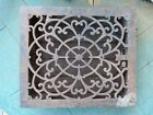Antique Cast Iron Heater Grate Register Ornate Design  12