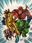BRUCE TIMM rare AVENGERS 1 1 2 giclee CANVAS signed 2X STAN LEE #9 99 COA