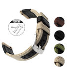 22mm Quick Release Nylon Genuine Leather Watch Band Sport Strap For Watch Expert
