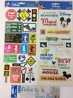 Disney Mickey Mouse Phrases Stickers + Signs Cardstock Stickers + Pinocchio