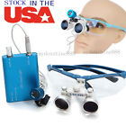 3.5x420 Dental Surgical Binocular Loupes Magnifier Glass Led Head Light Lamp Kit