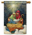 Studio M H8 Nativity Christmas Outdoor Standard Flag 28x40in Behold The Child