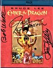 Bruce Lee's ENTER THE DRAGON BluRay SIGNED by John Saxon, Jim Kelly, Bob Wall