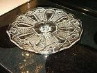 LE Smith Clear Glass Pedestal Cake Pie Cupcake Plate Stand 11 1/2