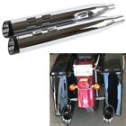 2017 UP 4 Chrome Slip On Mufflers For Harley Touring Exhaust Pipes Slash Tip