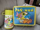 VINTAGE1980 PAC MAN MEDAL LUNCH BOX WITH THERMOS BALLY MIDWAY