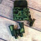 Binolux camo rubber armored ruby coated lens 10 x 50 power binoculars w case new