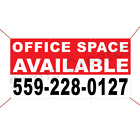 Office Space Available Custom Phone Number Banner Business Advertising Sign