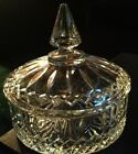 Vintage Indiana Glass Covered Candy Dish ~ Clear