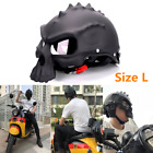 Skull Helmet Ghost Scooter Street Bike Rider Safety Helmet Cap Matte Black Large